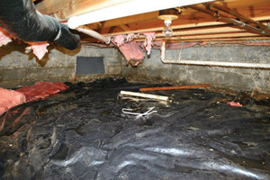 Crawl Space Repair Before in Tucson