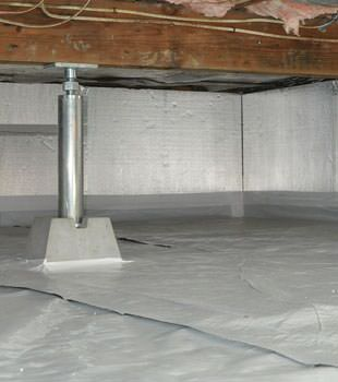 Installed crawl space insulation in Douglas