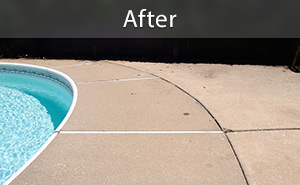 Sinking pool deck repaired with PolyLevel® concrete lifting
