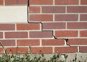 a foundation wall crack on a Mc Neal home.