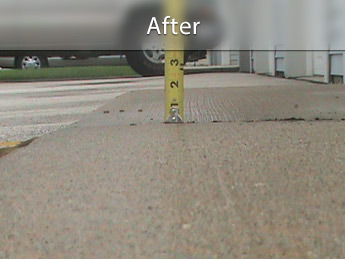 Repairing driveway with concrete leveling in AZ