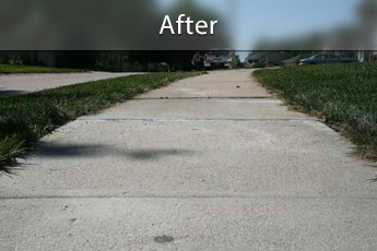 Fixing sunken concrete with PolyLevel® in Tucson